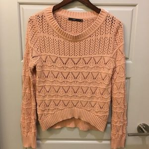 Hazel Stylish Pink Chunky Knit Sweater Sz M